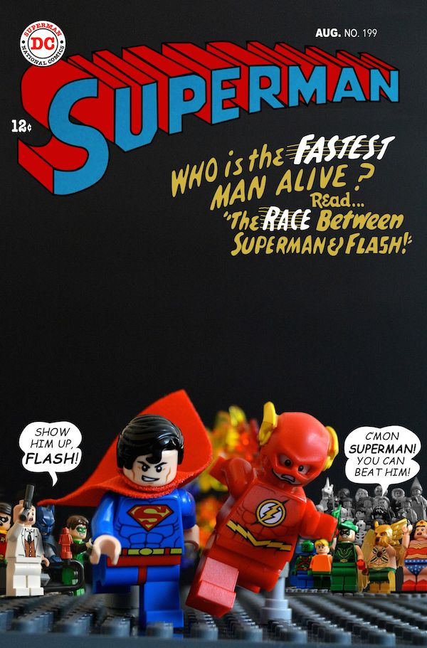 Iconic Vintage Comic Book Covers Undergo A Delightful LEGO Makeover ...