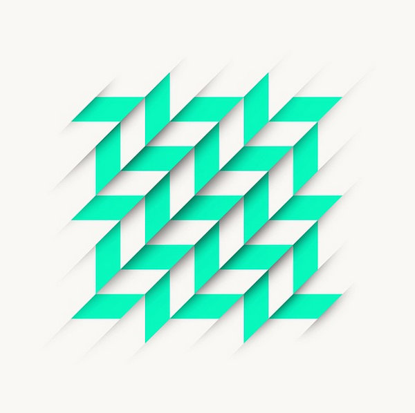 Line And Shape Design : Graphic designer uses simple lines geometric shapes to