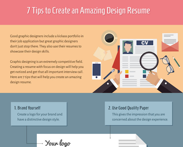 infographic 7 tips to create an amazing design rsum