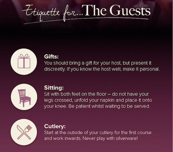 Infographic: Dinner Party Etiquette For The Host, Guests