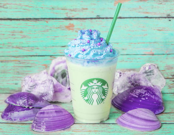 Starbucks' Shimmery New Mermaid Frappuccino Looks Magically Delicious