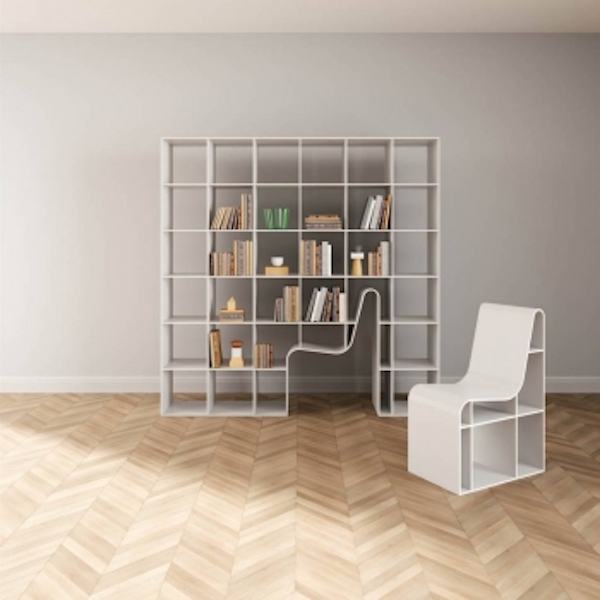 This Minimalistic White Bookshelf Designed By Sou Fujimoto Architects For Alias Is Perfect A Bookworm