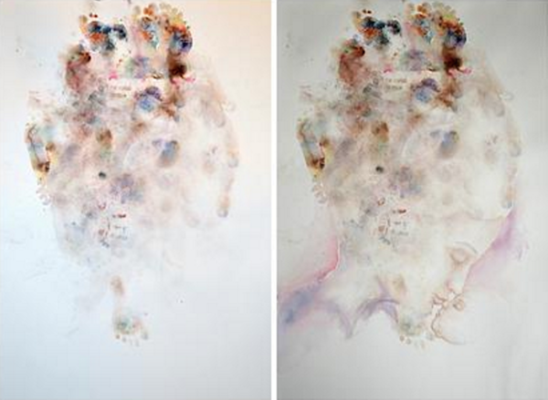 Artist Creates Beautiful Paintings From Her Three-Year-Old Daughter's Doodles