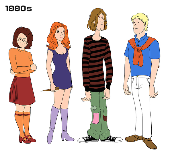 The Evolving Fashion Styles Of The Scooby Doo Gang Over The Years