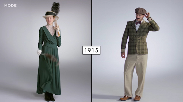 Watch Mens Vs Womens Fashion Over The Past 100 Years - Designtaxicom-2136