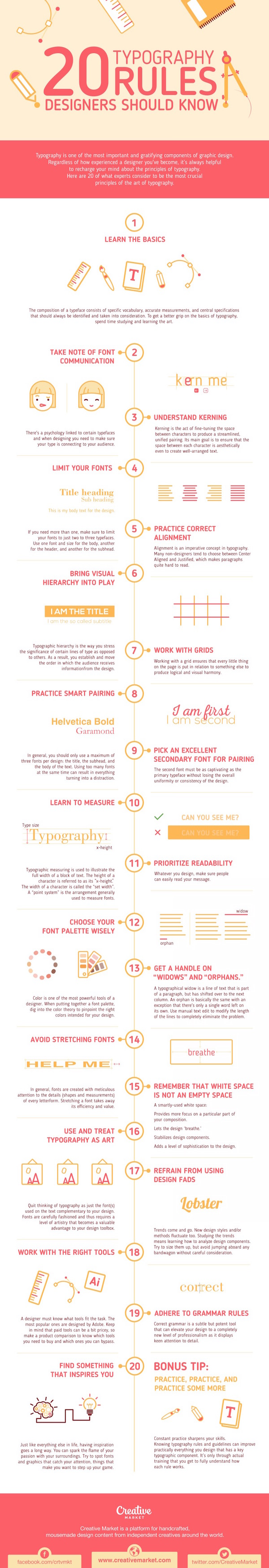 Infographic: 20 Typography Rules Every Graphic Designer Should Know