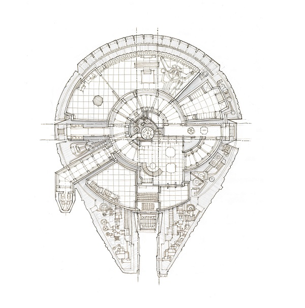 Galactic blueprints of the x wing fighter and other iconic star new york based architectural illustrator 21 am has come up with a series of illustrations that feature the blueprint plans of ships from the star wars malvernweather Gallery