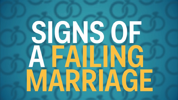 Watch: Four Signs Of A Failing Marriage, As Told By A Relationship