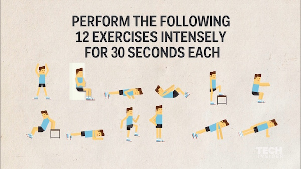 Watch: The Seven-Minute Workout To Get Into Shape Efficiently, Backed By Science - DesignTAXI.com