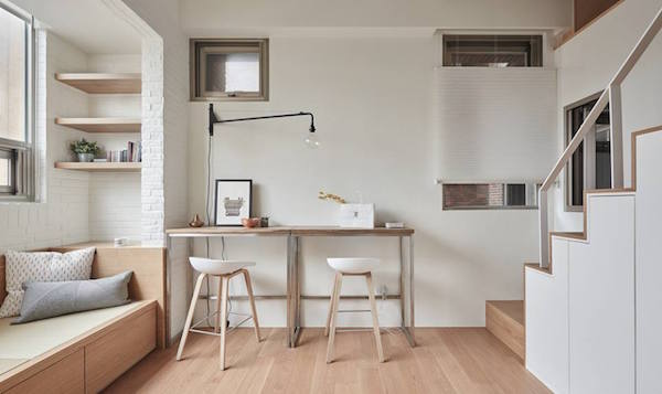 A Minimalist, Stylish Home That Fits Into 22-Square-Meter Micro Apartment - DesignTAXI.com