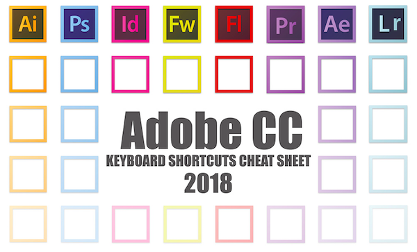 Designers, Here's The 2018 Ultimate Adobe CC Keyboard Shortcuts Cheat Sheet