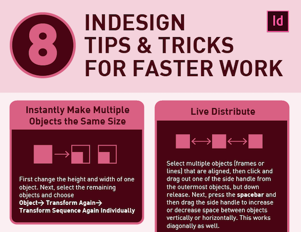 Infographic: 8 Adobe InDesign Tips To Help You Save Time ...
