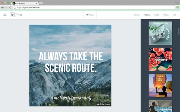 Adobe Debuts 'Spark', Enables Anyone To Easily Design Pro-Looking Images, Videos