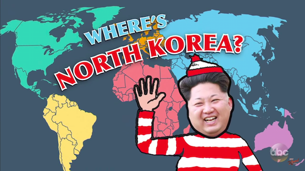 Watch Jimmy Kimmel Invites Americans To Find North Korea On The - Us trying to find north korea on map