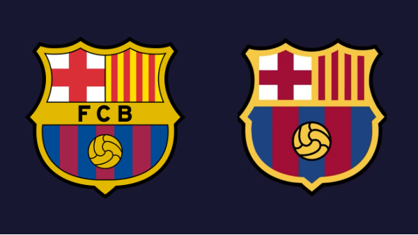 fc barcelona s redesigned crest gets likened to knockoff version
