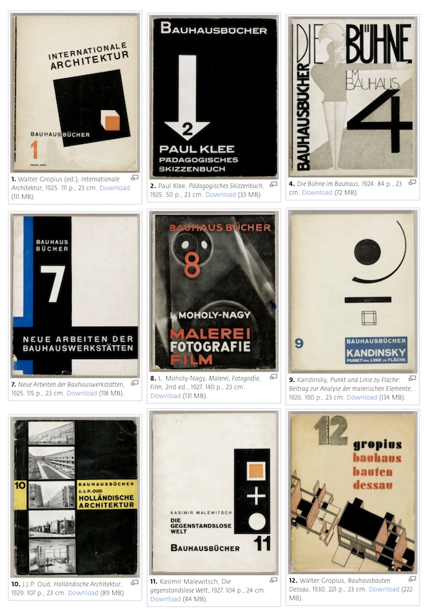 Free Bauhaus Books Journals That Beautifully Depict Design's Defining Era