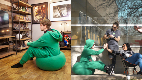 Bean Bag Onesie Offers Full Time Comfort For The Laziest