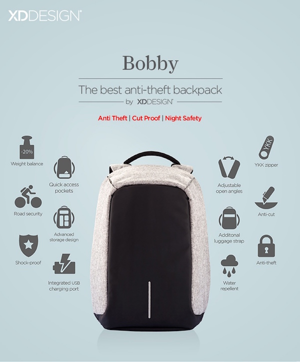 Anti Theft Backpack That S Completely Cut Amp Water Proof