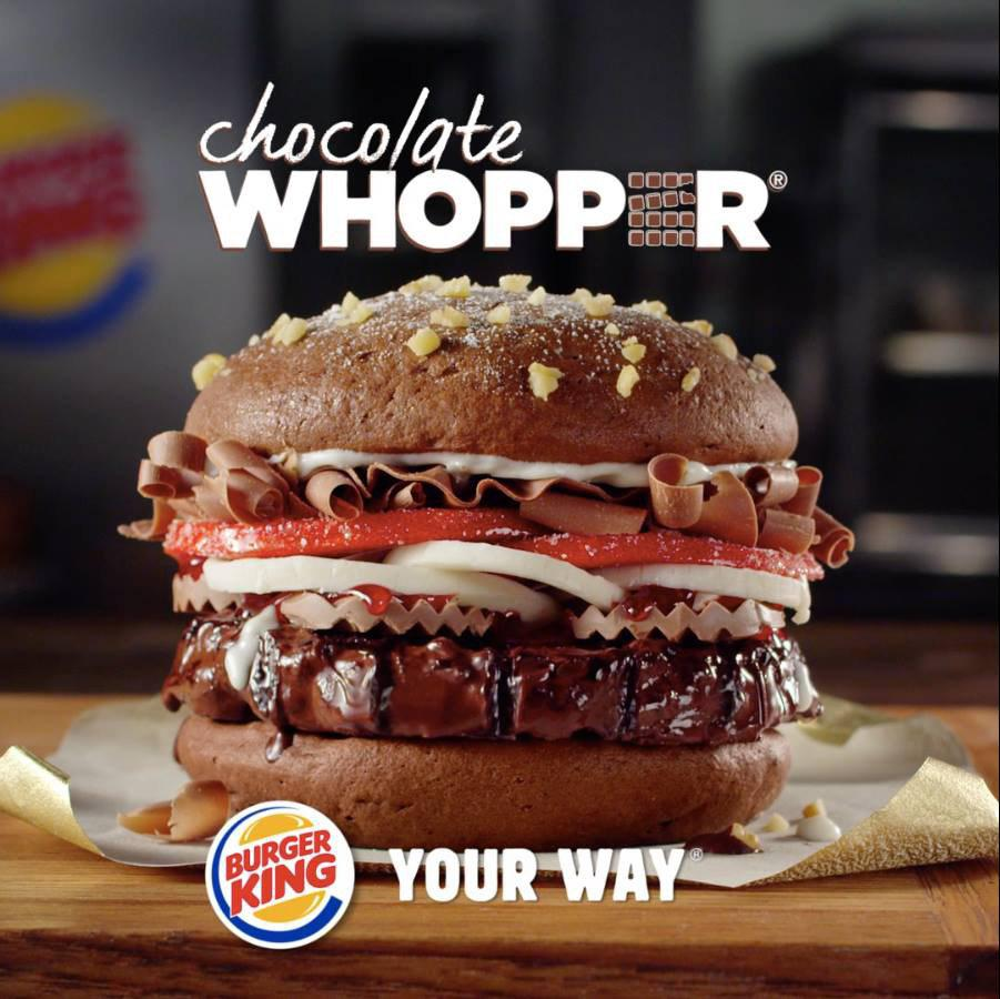 Burger King Unveils All-Dessert 'Chocolate Whopper' For