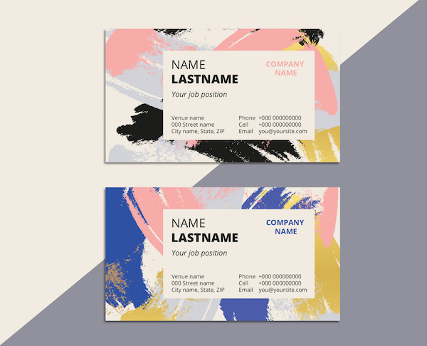 10 eye catching business card designs that will leave a lasting abstract patterned business card layout 2 by grafvishenka reheart Gallery
