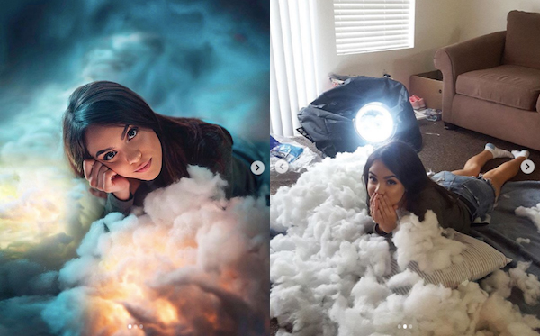 Photographer's Amusing BTS Of His Eye-Catching Photos Prove Creativity Is Key