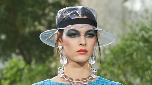 Chanel s Absurdly-Priced Plastic Rain Hat Will Leave Your Head And Wallet  Dry - DesignTAXI.com 3f834735ff7