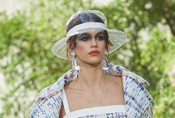 Chanel s Absurdly-Priced Plastic Rain Hat Will Leave Your Head And ... 27c86157a77