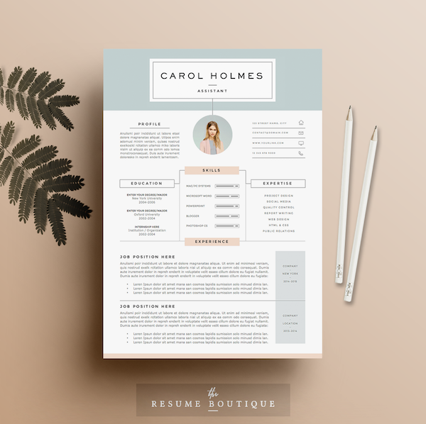 resume template 4page milky way image via theresumeboutique - Creative Resumes