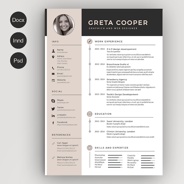 High Quality Clean Cv Resume II, Image Via Estartshop Resume Template For MS Word ... Throughout Creative Resume Templates Microsoft Word