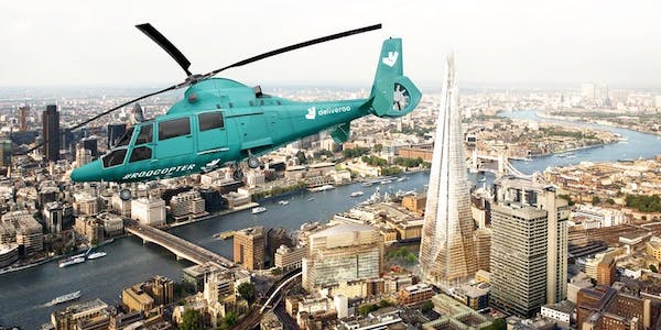 Deliveroo Opens 'Helicopter Restaurant' To Propel Mealtimes To Greater Heights