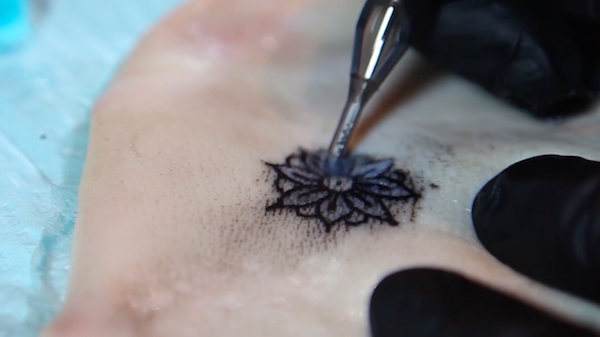 Revolutionary tattoos being designed to change color in for Diabetic color changing tattoo ink