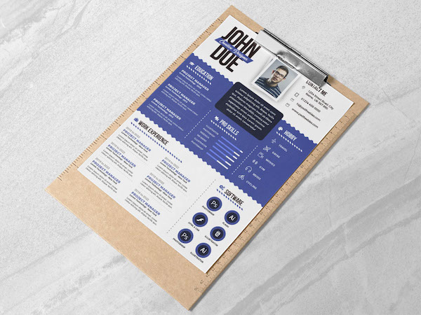 Designers, Free Résumé Templates To Have You Tip-Top Ready For A Career Boost - DesignTAXI.com