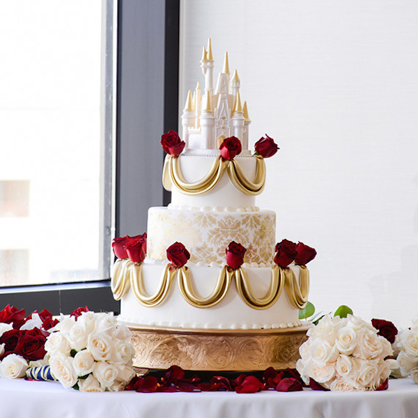 Gorgeous Disney Themed Wedding Cakes For That Happily Ever