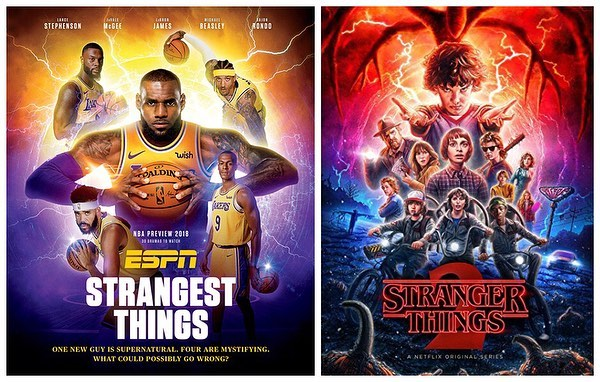 f649f9c80c60 ESPN Magazine Spoofs Pop Culture Posters To Create Covers Flaunting NBA  Stars