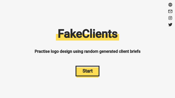 'FakeClients' Creates Faux Design Briefs To Get You Out Of Mental Ruts - DesignTAXI.com