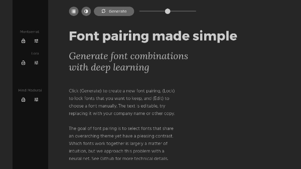 Font Pairing Tool Makes Typographic Decisions With The Taste Of A Human Being - DesignTAXI.com