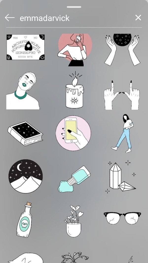 Instagram Artist Names To Look Up For Incredible Story Sticker Aesthetics Designtaxi Com