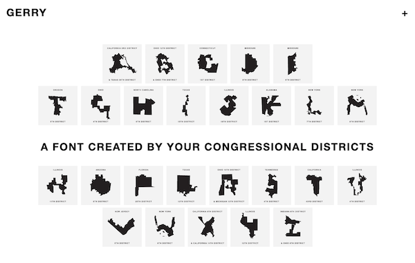 'Ugly Gerry' Is A Free, Not-So-Pretty Typeface Based On Gerrymandered Districts