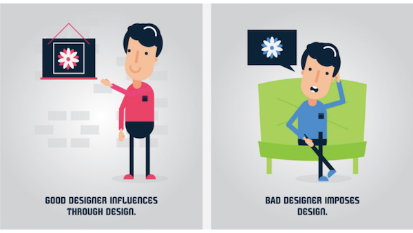 Bad Designer infographic differences between a and bad designer