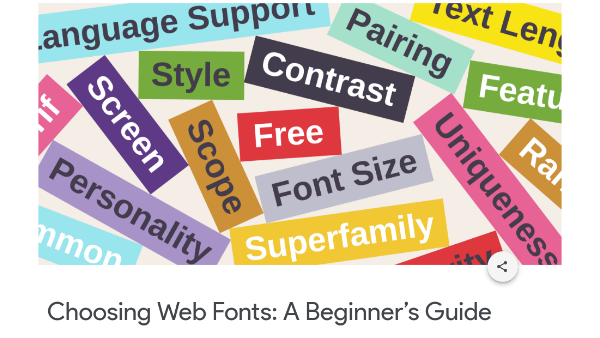 Google Publishes Free Typographic Guide To Help You Master Web Fonts
