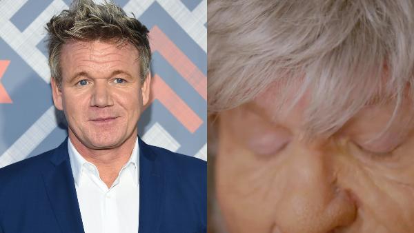 Gordon Ramsay Takes On Extreme Makeover As Elderly Historian Using Prosthetics