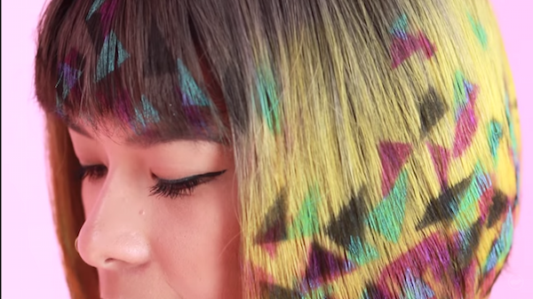 Graffiti Hair Trend Lets You Briefly Add Pretty Shapes Designs To Your Lock