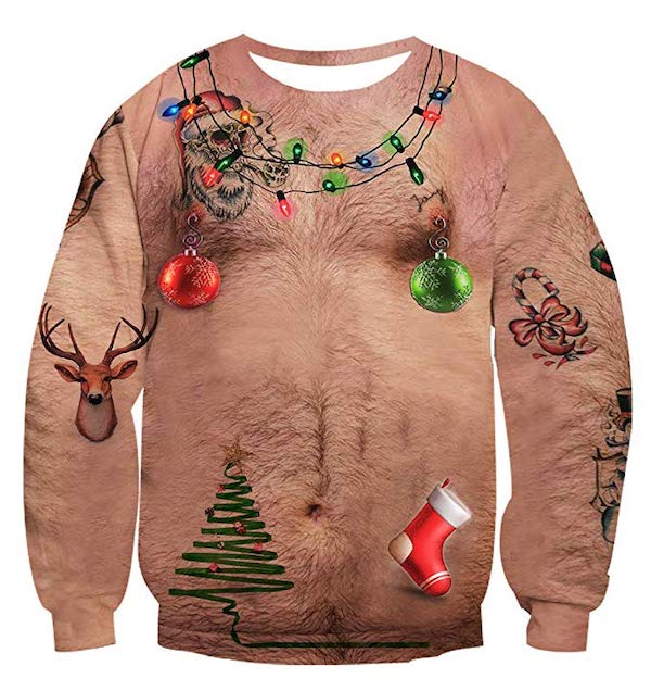 Let Your Dad Bod Shine With These Bare Chested Christmas Sweaters