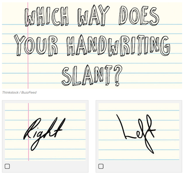 Simple Handwriting Quiz Reveals More About Different
