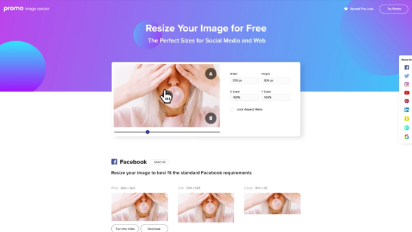 In One Click, 'Image Resizer' Converts Pics To Over 50 Social Media Post Sizes