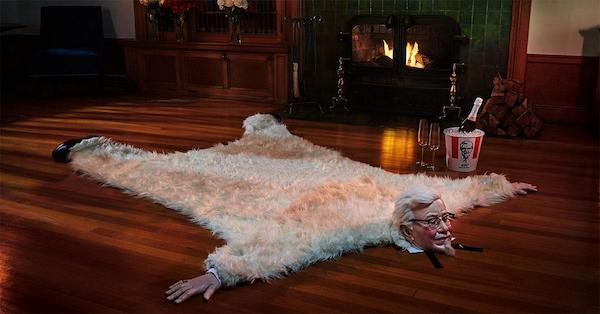 Kfc S Date Night Bundle Features Rug With The Colonel S