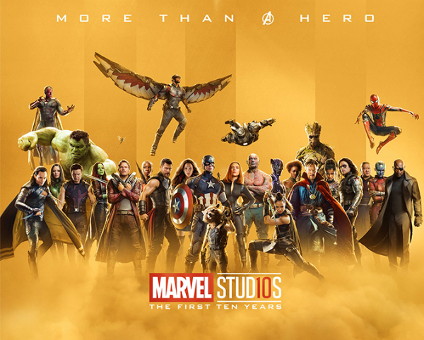 Marvel Studios Celebrates 10th Anniversary With Collection Of Gold Posters - DesignTAXI.com