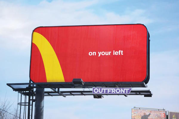 McDonald's Amusingly Turns Its Golden Arches Logo Into Directional Signs - DesignTAXI.com