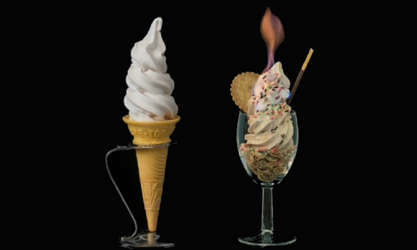 Japan's 'Non-Melting' Soft Serve Stays Solid In The Sun, Can Even Be Lit By Fire - DesignTAXI.com