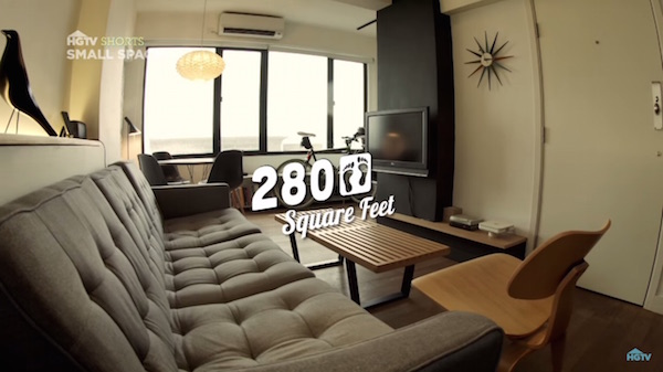 280 Square Foot Tiny Apartment With Roof Terrace Is Only